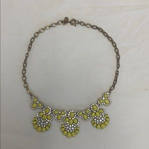 Neon yellow J. Crew statement necklace